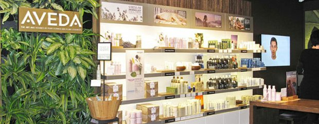 Interior of Aveda Experience Center