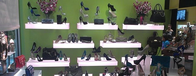 Shelves of shoes at Steve Madden Mall of America