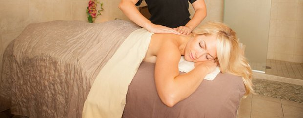 A woman getting a massage at Ivy Spa Club
