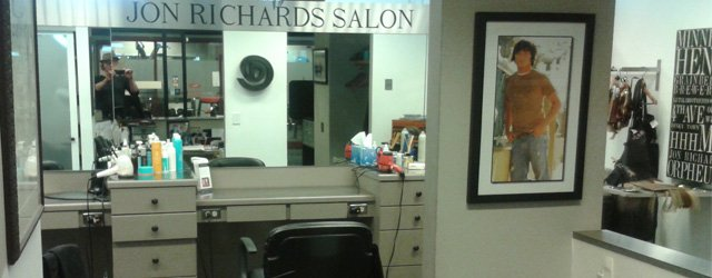 Interior of Jon Richards Salon in Minneapolis
