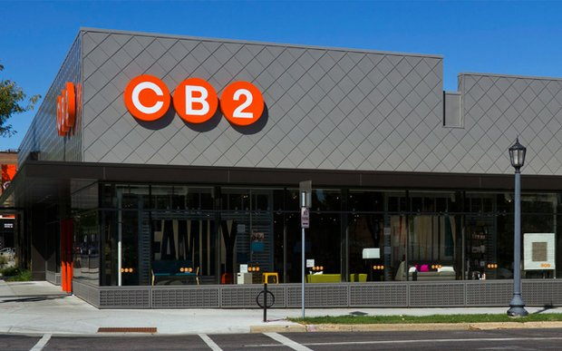 Exterior of CB2 store Uptown, Minneapolis