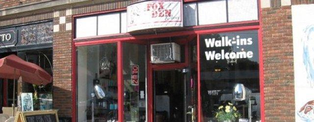 Exterior of the Fox Den Salon
