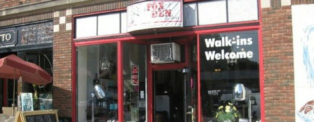 Exterior of the Fox Den Salon