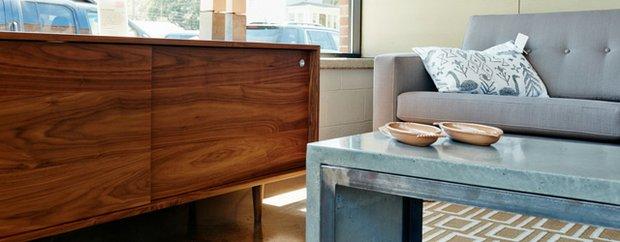 A vignette of furniture at Forage Modern Workshop