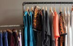A rack of clothing at Showroom boutique in Minneapolis