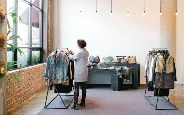 Interior of D.NOLO boutique in the North Loop of Minneapolis