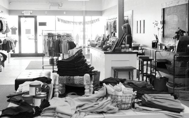 Interior of CC & Mays children's boutique in Minnetonka