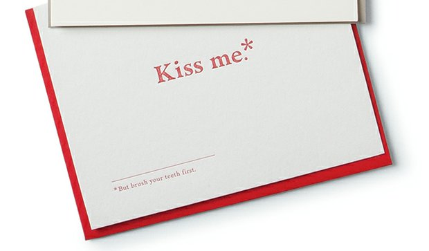 Kiss Me card ($4.50), by Old Tom Foolery from Greater Goods