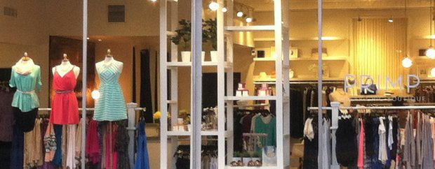 Exterior of Primp boutique in downtown Excelsior
