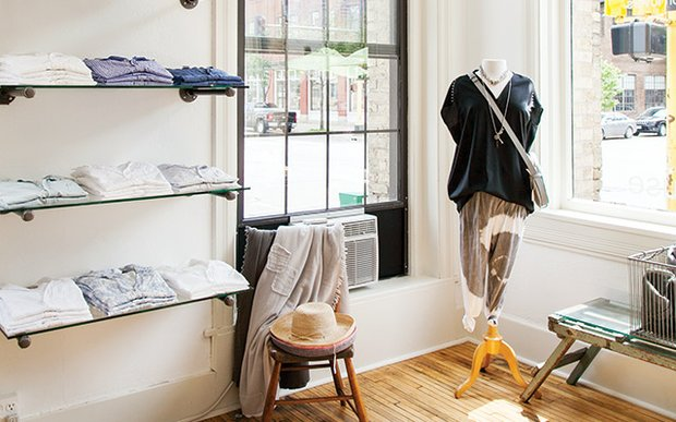 Interior of Grethen House Boutique North Loop Minneapolis | Photo by Caitlin Abrams