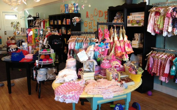 Interior of Teeny Bee Boutique in St. Paul, Minnesota