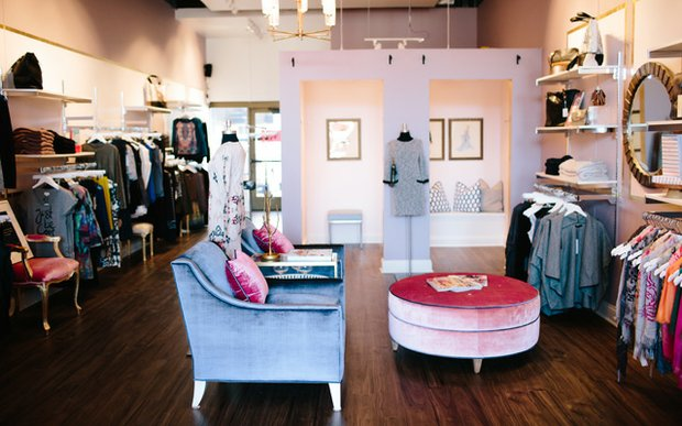 Interior of Primrose Park boutique in Northeast Minneapolis