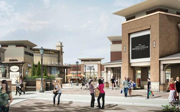 Rendering of Twin Cities Premium Outlets in Eagan, Minnesota