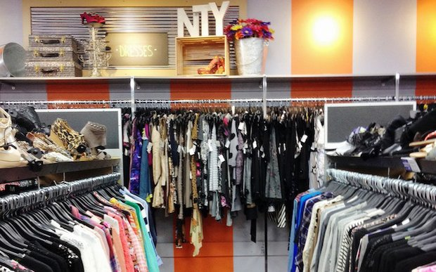Interior of NTY Clothing Exchange in Minnetonka