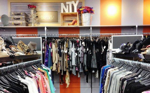 Interior of NTY Clothing Exchange in Minnetonka