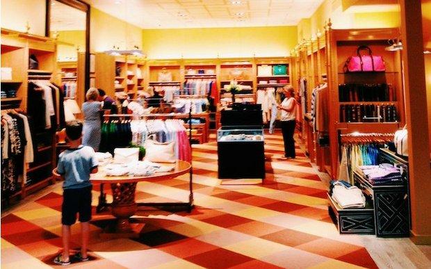 Interior of J.McLaughlin store at Galleria, Edina