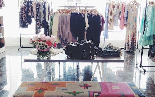 Interior of Proper & Prim boutique in Uptown, Minneapolis