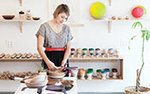Araya Jensen inside her South Minneapolis store, Wind & Willow Home
