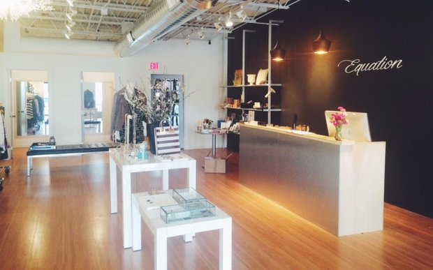 Interior of Equation boutique on France Avenue in Minneapolis