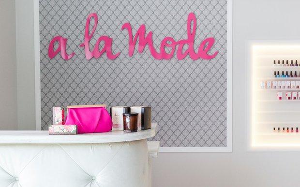 Interior of A La Mode salon in Wayzata