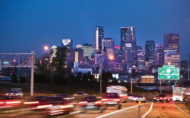 Downtown Minneapolis, from I-35