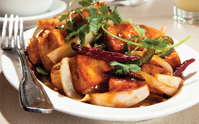 Manchurian stir-fry from Chin Dian