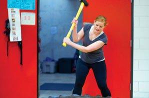 sarah howard at the gladiator workout
