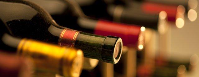 Wine rack close-up