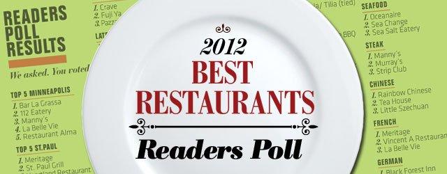 Best Restaurants 2012: Readers Poll
