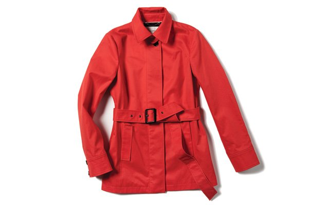 Red jacket from Banana Republic