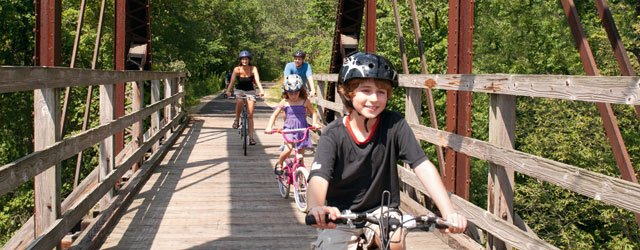 Biking on the Root River Trail