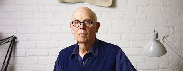 Claes Oldenburg in his New York studio, 2011