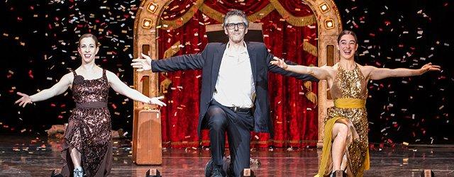 Ira Glass with dancers Monica Bill Barnes and Anna Bass
