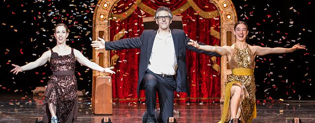 Ira Glass with dancers Monica Bill Barnes and Anna Bass