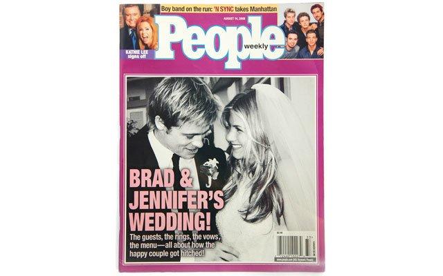 Brad and Jen's wedding