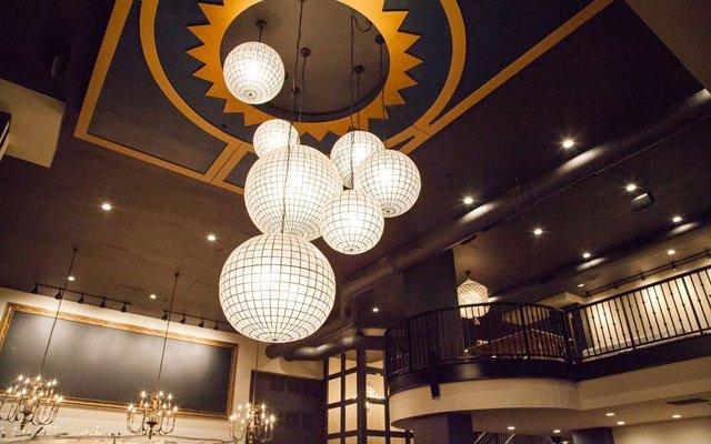 Interior of Coup d'Etat restaurant in Minneapolis.