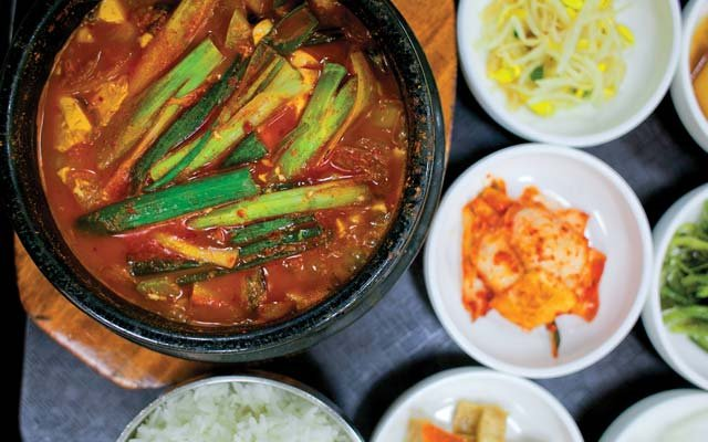 Spicy Seafood Tofu Soup from Dong Yang