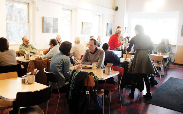 Interior of Birchwood Cafe