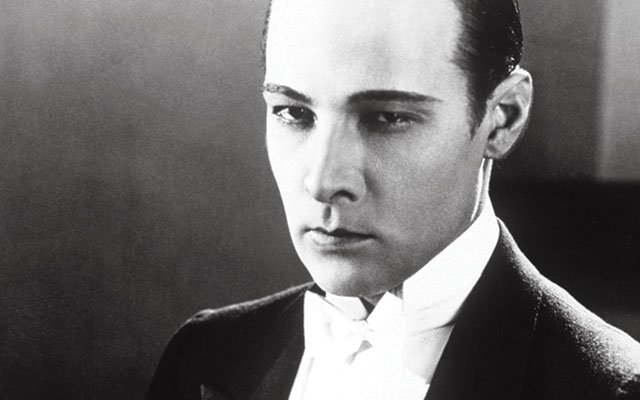 Silent movie star Rudolph Valentino