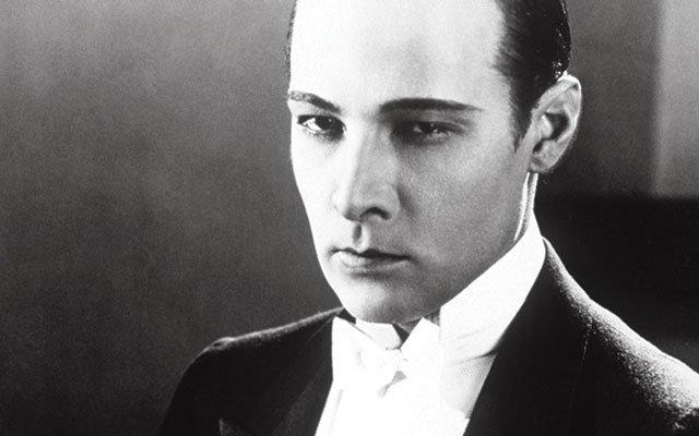 Silent movie star Rudolph Valentino