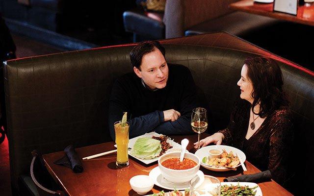 Jason DeRusha and Katie McMahon at P.F. Chang's