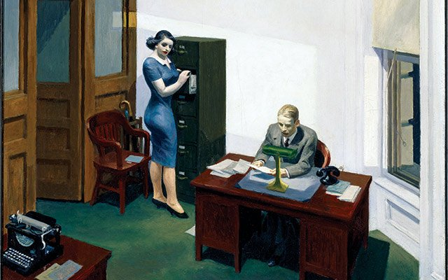 Hopper's Office at Night