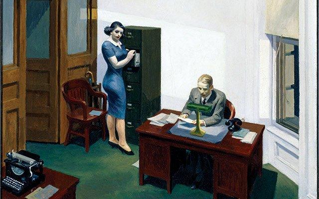 Hopper's Office at Night