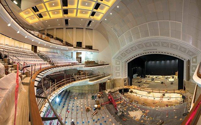 Interior of the newly-renovated Northrop Auditorium in Minneapolis.