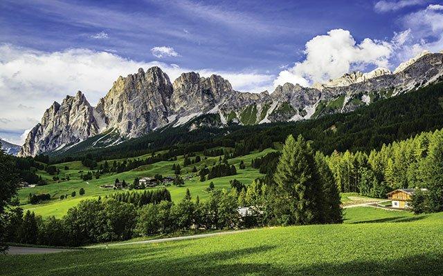Dolomite mountains near Cortina d'Ampezzo, Italy