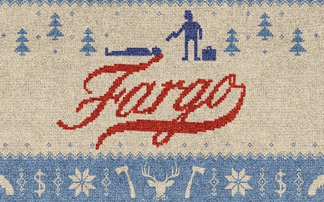 Needlepoint image of the FX television series Fargo.