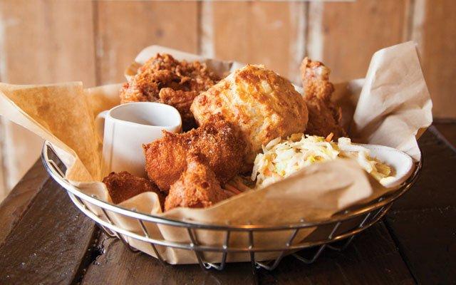 Fried chicken at BoneYard