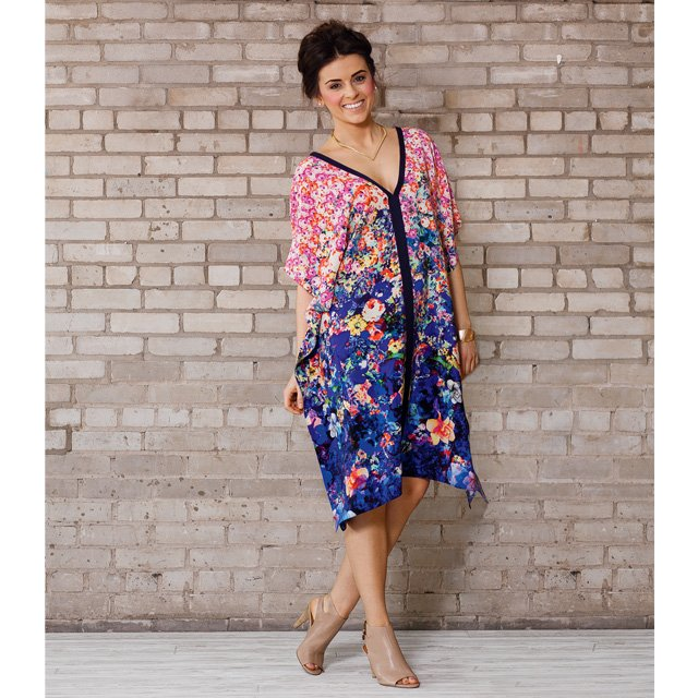 watercolor dress