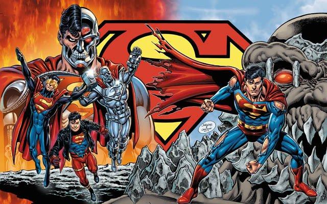 Superman illustration by Dan Jurgens