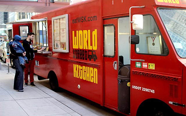 World Street Kitchen food truck parked in downtown Minneapolis / Photo by Jessica M. Fleming
